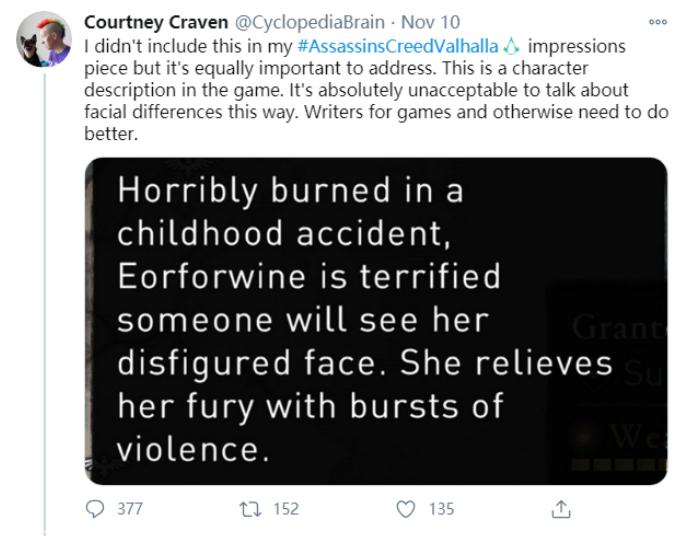 育碧为《刺客信条:英灵殿》中对残疾人物的描述向玩家道歉插图1